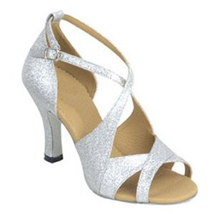 XSG Les chaussures de danse latine les femmes portent des costumes féminins chaussures de danse de salon composé éclair chaussures de danse artistes à talons bo en cuir souple