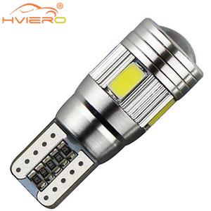 T10 W5W Blanc Bleu Rouge Voiture LED CANBUS Sans erreur 5730 6SMD 5630Lens 194 501 Lampe intérieure Automobile Ampoules Marque de stationnement latérale