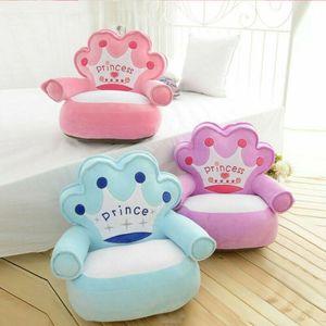 Sofá Sofá niños cubierta de dibujos animados Los niños Silla de bebé solo asiento butaca del niño amortiguador lindo caliente de impresión de letras suave