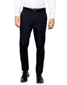 Men's Navy Blue Cozy Straight Type Long Suits Fashion Brand Casual Pants For Business Custom Made Suits & Blazers Men's Clothing Male Leisur