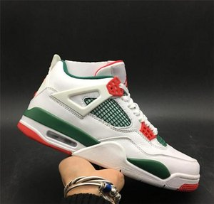 Air 4 NRG Do the Right Thing White Pizzeria AQ3816-063 4s IV Kicks Men Basketball Sports Shoes Sneakers High Quality