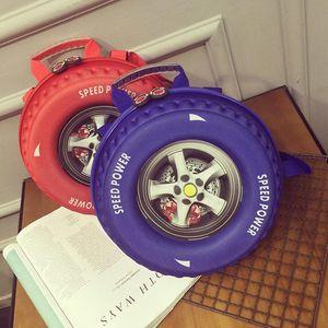 Designer-crianças fresco Satchel Backpack Racing Car Tire Bag Crossbody Bolsas de Ombro Handbag Cool Designer Roda dos desenhos animados bolsa 25 * 15 centímetros - SC