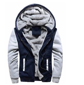 Mens Winter Designer Giacche di lana a maniche lunghe con cappuccio in cashmere con cerniera Cardigan Capispalla spessa caldo signore Cappotti