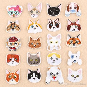 20 Styles Cartoon Chiens Chats Ecussons Brodé pour les vêtements Sew fer sur chien mignon Pet Bull Terrier Badge Patch Cat pour Jeans Applique