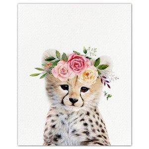 5D DIY Diamond embroidery Animal Little Leopard Flower Full Square Diamond painting Cross stitch Full Round mosaic Decor