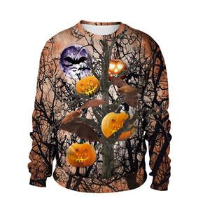 Halloween Mens Designer Sweatshirts Nouvelle Personnalité Populaire Citrouille 3D Impression Numérique Vêtements Casual Couple Mode Vêtements