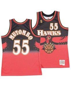 Cheap Men Dikembe Mutombo ATL Mitchell Ness 1996-97 Hardwood Classic Jersey Top Basketball jerseys