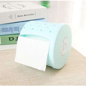 Einfachen Stil Kunststoff-Tissue-Box-Deckel runde Seite zeichnen Tissue-Box-Halter runde Serviette Papierkasten