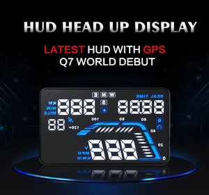 5 .5 Car Head Up Display Vehicle Universal Gps Hud Real Time Vehicle Speed Altitude Driving Direction Overspeed Alarm Auto Power On  Off