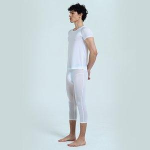 AsiaSkin Seven-Point Boxer Suit À Manches Courtes Sexy Sous-vêtement Home Semi-perméable S707 + 021