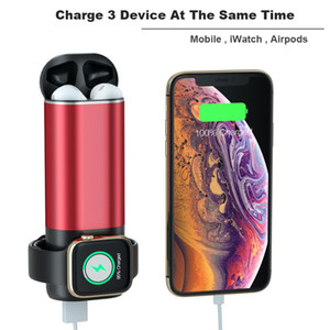 3 in 1 5200mah Power Bank Wireless Charger For Airpods Apple Watch Series iWatch 1 2 3 4 External Battery Charger for iPhone Samsung Phone