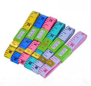 2019 Nouveau Designer portable coloré corps de mesure Règle pouces couture sur mesure Ruban à mesurer souple outil 1,5M couture ruban à mesurer cadeau de Noël