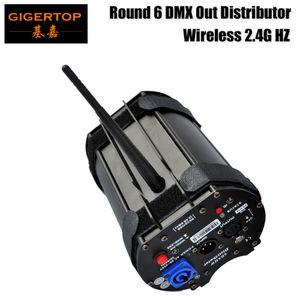 Atacado Forma Preço Rodada de suspensão sem fio DMX Distribuidor Box 6 Way Out Feminino Neutrik 3pins tomada de áudio Plug Power