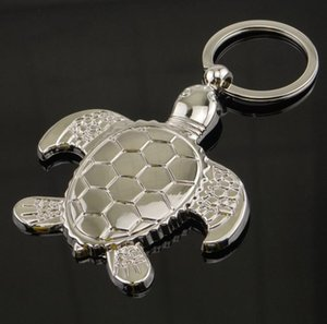 New Caming silver plated turtle tortoise keychains ring animal alloy keychain women keyring bag car charm pendant gift SN767
