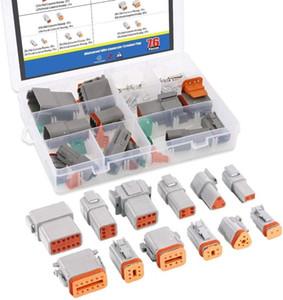 6 Imposta 2 3 4 6 8 12 Pin DT Series Sealed Gray auto maschio e femmina Auto impermeabile legare elettrico 22-16AWG connettore connettore Spina