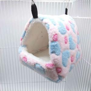 جديد لطيف الحيوانات الصغيرة اللوازم أقفاص الحيوانات الأليفة الأرنب الهامستر البيت سرير الجرذ Qquirrel غينيا شتاء دافئ معلقة قفص الهامستر عش