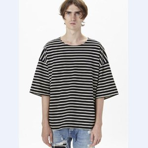 20SS Luxury European Justin Bieber Striped Short Sleeve Tee Fashion Cotton Shorts Mens Women Couple Designer High Quality T-Shirt HFXHTX085