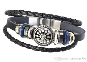 Hot Wholesale Newest Design leather Bracelet Buttons Chunks Bracelets For Women Fit Snap Jewelry charm bracelets