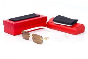новые модные спортивные деревянные рамы Leopard Золотой рог буйвола очки женщин очки мужские солнцезащитные очки, очки мужчина ясно Lense безрамного