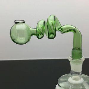 spirale couleur pot de cuisson S verre bongs brûleur à huile en verre pipe à eau huile de Rigs Rigs fumeurs