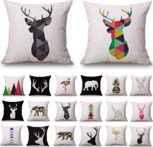 Black White Nordic geometry Travel Neck Body Pillowcase Linen Bed Pillows Cover Couch Seat Cushion Throw Pillow Home Decor Gift