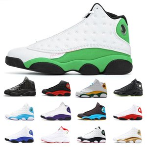 Newest Retro LUCKY GREEN 13 13s Men basketball shoes Cap and Gown Chicago Bred Aurora Green mens women trainers Sports Sneakers