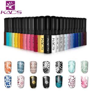 KADS Stamp polish 1 Bottle LOT Nail Polish & stamp nail art pen 31 colors Optional 10g More engaging 4 Seasons