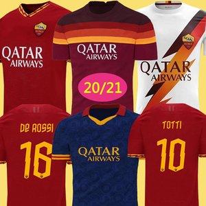 Thailand DZEKO PEROTTI PASTORE ZANIOLO Fußball-Trikot rom 2019 TOTTI Jersey 20 21 Fußball-Kit Shirt DE ROSSI 2020 maillot de foot roma