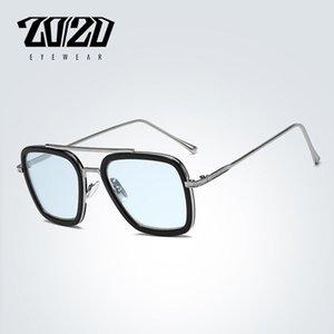 Design Polarized Vintage Unisex Retro Aluminum Tony Stark Sunglasses Men Fashion Sun Glasses For Women gafas de sol mujer T200106DR3574
