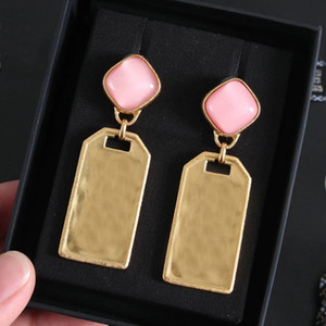 marque de mode ont des timbres boucles d'oreilles de marque pour femmes dame Party amateurs de mariage de fiançailles cadeau bijoux de luxe avec la boîte CHB041910