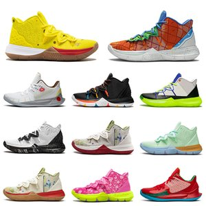 Nike Kyrie 5 Basketball Shoes Großhandel 2020 New Kyrie 5 Herren Basketballschuhe Mode gestickte Spritzer Schwarz Geschichte Monat 20-jähriges Jubiläum Schwamm x Irving Trainer