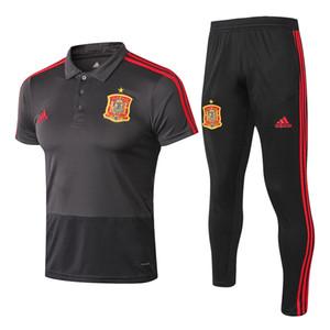 Tayland en yeni 19/20 İspanya kısa kollu Tişört Morata Kosta eğitim gömlek eşofman futbol forması Ramos polo Tees Pique futbol takım