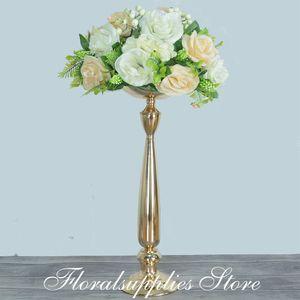 Decorazione di nozze titolare centrotavola candela per mariage decoro in metallo visualizzazione di fiori Candelieri scaffali rustici