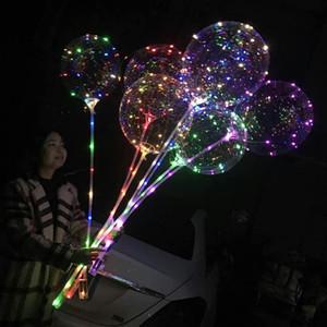 Ballon lumineux Bobo 20 pouces LED ballon Kid Jouets clignotant Ballons anniversaire de mariage fête d'Halloween Décoration de Noël VT0618