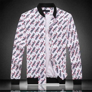 2020 Mens Jacket Hooded Spring Autumn Zipper Windbreaker Letters Print For Men And Women Hoodie Coat Slim Jacket Shiny