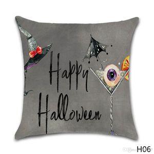 Halloween Pumpkin Witch Pattern Cotton Linen Throw Pillow Cushion Cover Seat Home Decoration Sofa Decor Pillowcase