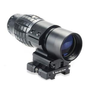 Mit Klapp Picatinny-Schienen-Montage für holographische Aimpoint Red Dot Anblick-Bereich Tactical Fokus 3X Vergrößerungsglas-Bereich angepasst.