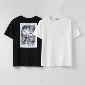 2020 new men's T-shirts European and American popular printing T-shirts men and women couple T-shirts