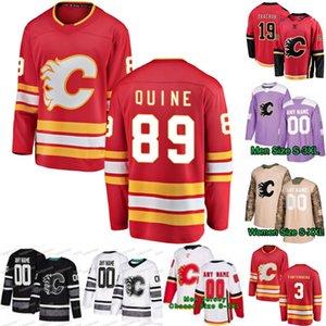 89 Alan Quine Calgary Flames 5 Mark Giordano 11 Mikael Backlund 3 Oscar Fantenberg 19 Matthew Tkachuk 13 Camisas de Johnny Gaudreau