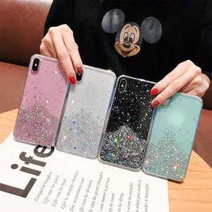 Claro estrella de la portada del brillo para el iPhone 11 XS MAX X 7 8 más Case TPU brillante suave para 6s iphone 6s más casos de teléfono