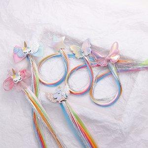 Unicron аксессуары для волос заколки для девочек дети блеск волос банты / клипы с крылом единорога ручной работы заколки детские заколки