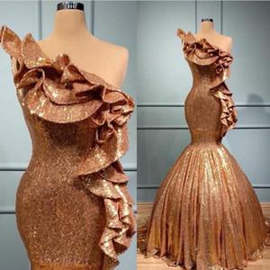 2020 Plus Size formelle Robes de soirée Robes De African Fiesta Or Sirène Robes de bal Soiree pas cher