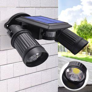 La lumière actionnée solaire superbe lumineuse de 14 LED de capteur de mouvement de PIR imperméable, a mené des lumières solaires le réverbère extérieur de lampe de sécurité de jardin