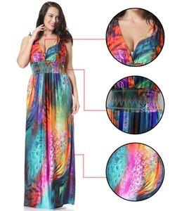 2020 primavera e no verão nova moda feminina extra Long Beach Vacation Praia saia Bohemia XL Colorful Dress Flower Feather