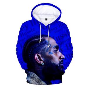 Rholycrown Stampa Nipsey hussle 3D Hoodies degli uomini Pullover Felpe con cappuccio Rapper 3D Nipsey hussle Uomini XXS-4XL