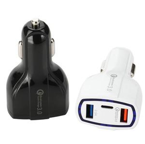 QC3. 0 3 порта USB автомобильное зарядное устройство 35 Вт 7A быстрая зарядка автомобильное зарядное устройство быстрая зарядка автомобильный адаптер зарядное устройство для мобильного телефона Samsung MP3
