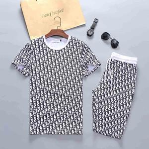 Herren Designer-Sportswear Alphabet Luxusfreizeitkleidung T-Shirt + Hosen Frühling und Herbst Anzug Sport Sportkleidung schwarz grau laufen