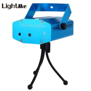 LED Disco Light Voice Control RGB Laser Landscape Projector Light Party KTV Bar DJ Stage Lighting Effect with Tripod EU US PLUG