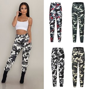 2020 new 5 colors Lady Girl Cargo Pants Fashion Female Trousers Camouflage Trousers Pockets Women Clothing (without belt)