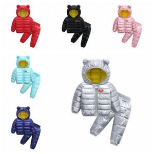 Vêtements enfants Designer Filles Pantalons Manteau coton rembourré Costumes garçons Vestes d'hiver vers le bas Sweats Pantalons Vêtements Ensembles Tenues Sweat C6097